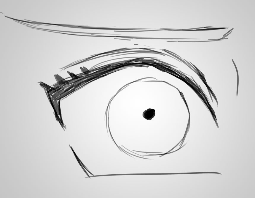 Eye drawing images